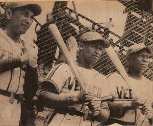 Pedro Pagés, Héctor Rodríguez y Alejandro Crespo cuando militaban en el Águila Veracruz en 1950