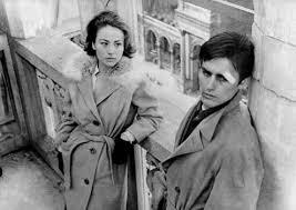 Annie Girardot y Alain Delon en