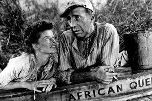 Bogart y Katharine Hepburn en La Reina de África