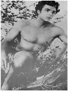 Buster Crabbe en el papel de Tarzan