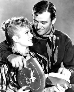 John Wayne y Claire Trevor en