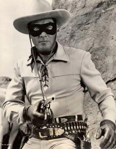Clayton Moore en el papel del Llanero Solitario