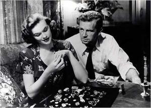 Jean Hagen y Sterling Hayden en
