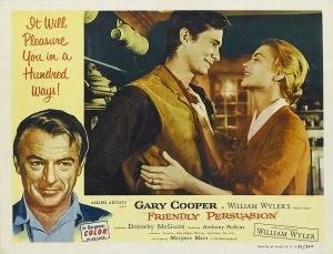 Anthony Perkins y Dorothy McGuire en un afiche del film