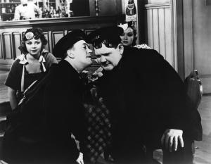 Laurel y Hardy en una escena de