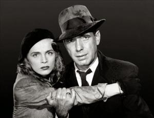 Lizabeth Scott y Humphrey Bogart en