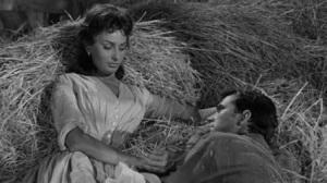 Sofía Loren y Anthony Perkins en una escena de