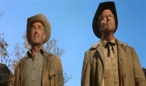 Los entonces veteranos vaqueros, Randolph Scott y Joel McCrea, en