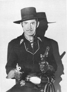 Reed Hadley en el papel del Zorro