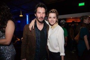 Ana de Armas con Keanu Reeves