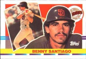 El boricua Benito Santiago, novato del año de la Liga Nacional (1987)
