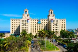 El majestuoso Hotel Nacional en la Habana, donde se hospedó Mickey Mantle en 1957