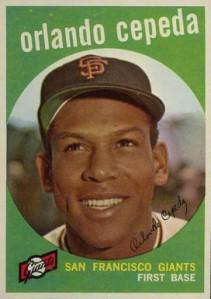 Orlando Cepeda, primer latinoamericano novato del año en la Liga Nacional (1958)