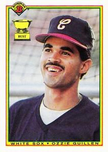 El venezolano Ozzie Guillén, novato del año en la Liga Americana (1985)