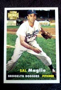 Sal Maglie, lanzador de los Dodgers para ese crucial juego