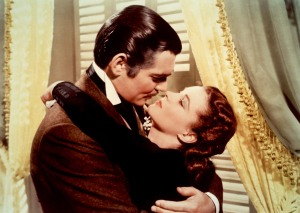 Vivien Leigh y Clark Gable en