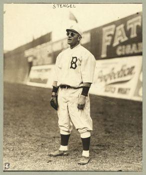 Casey Stengel como jugador de los Dodgers