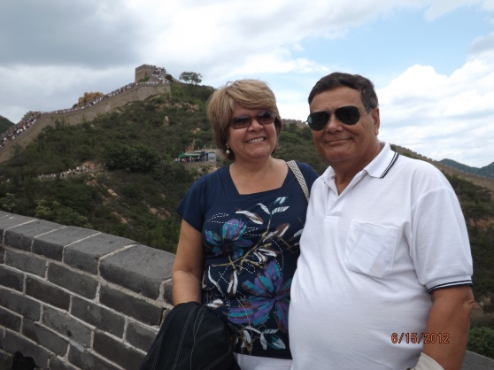 Con mi esposa Miriam en la Muralla