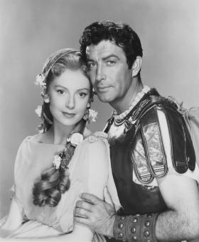 Deborah Kerr y Robert Taylor en Quo Vadis (1951)