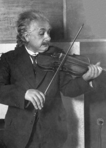 Einstein y su afición por la música