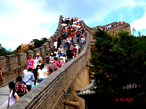 Fluencia de turistas en la Muralla