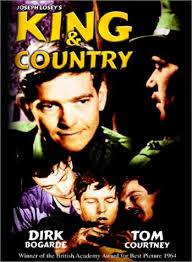 Afiche del film Rey y Patria de Joseph Losey