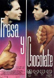Afiche Fresa y Chocolate (1993)