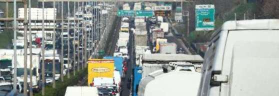 Tráfico en la circunvalación de Roma (raccordo)
