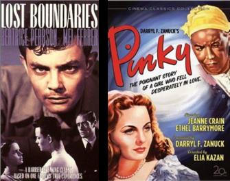 Afiches de los filmes El color de la sangre y Pinky