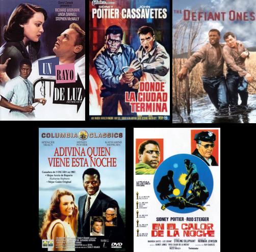 Afiches de películas protagonizadas por Sidney Poitier
