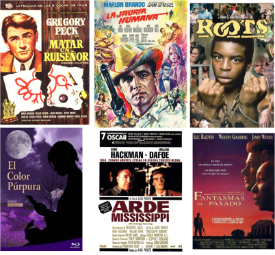 Afiches de películas sobre racismo en EEUU