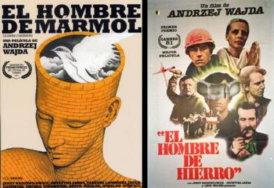 Afiches El Hombre de Mármol y El Hombre de Hierro