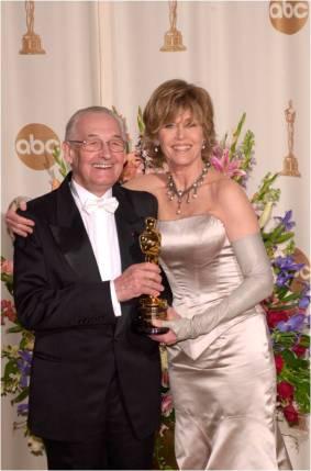 Andrzej Wajda junto a Jane Fonda