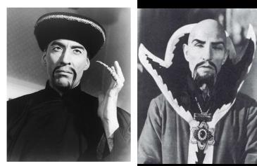 Demonización de los asiáticos, Christopher Lee como Fu Manchú y Charles Middleton como el emperador extraterrestre Ming