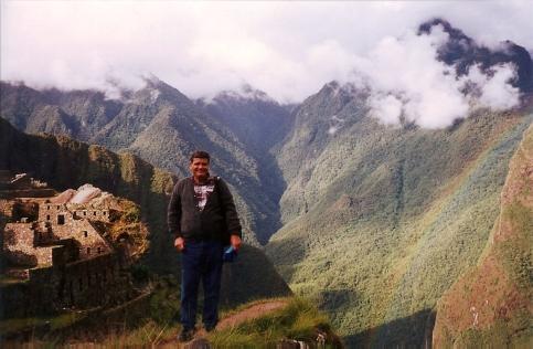 El autor en el Machu Picchu