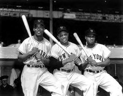 El primer trío de jardineros de las Ligas Negro en la MLB, Irvin-Mays-Hank Thompson, Gigantes NY 1951