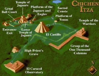 Plano de Chichén Itzá