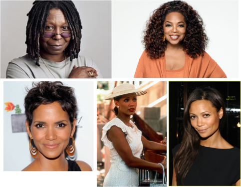Whoopy Goldberg-Oprah Winfrey-Halle Berry-Vanessa Williams-Thandie Newton