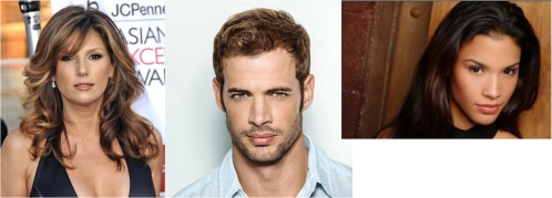 Actrices y actor cubanos, Daisy Fuentes, William Levy y Danay García