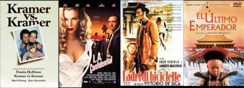 Afiches de Kramer contra Kramer, L.A. Confidential, Ladrón de bicicletas, El último emperador