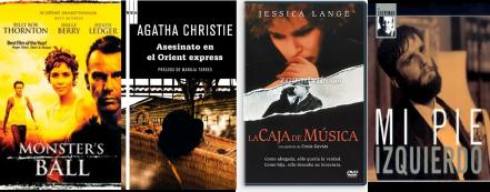 Afiches de Monster's ball, Asesinato en el Orient Express, La Caja de Música, Mi Pie Izquierdo