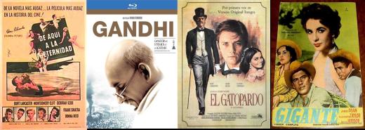 De aquí a la eternidad-Gandhi-El gatopardo-Gigante