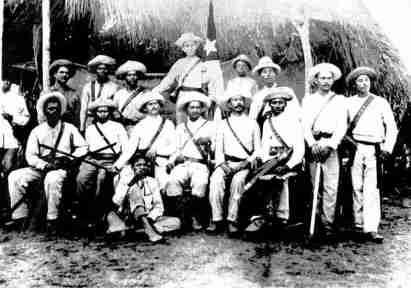 Grupo de mambises cubanos