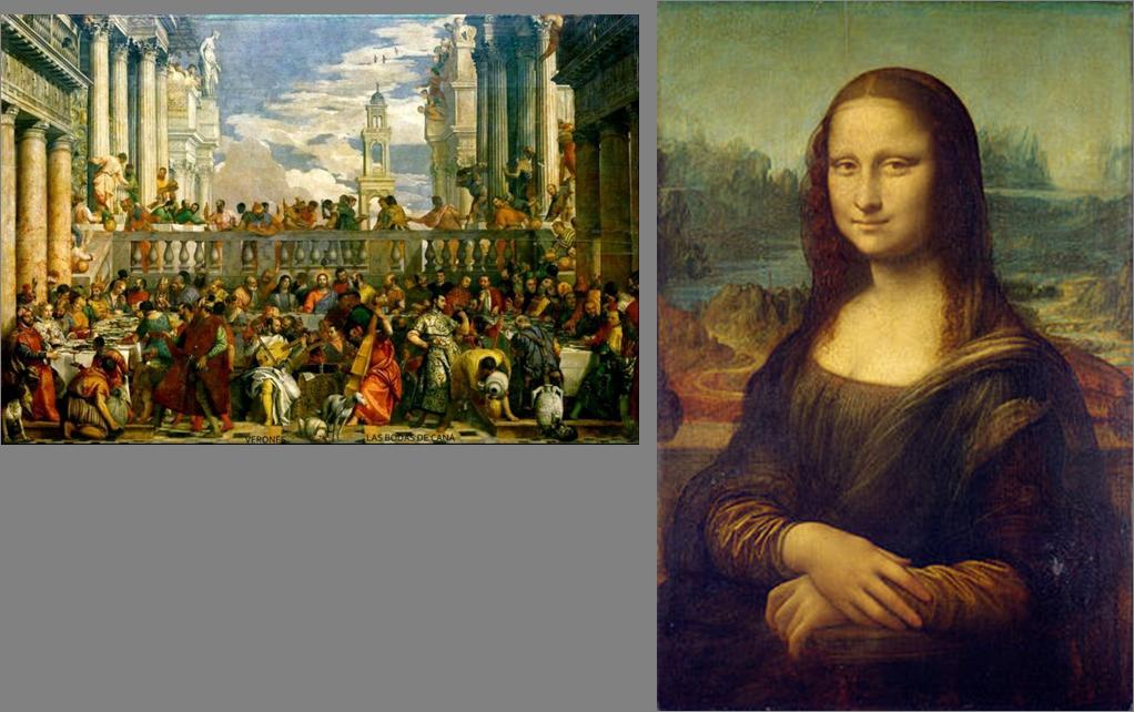 Las bodas de Cana y la Gioconda (Mona Lisa)