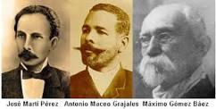 Los tres líderes cubanos
