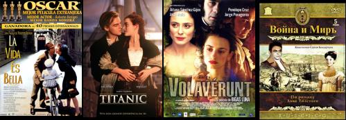 Afiches La vida es bella, Titanic, Volavérunt, Guerra y Paz-I Andrei Bolkonskiy