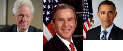 Bill Clinton-George W. Bush-Barack Obama
