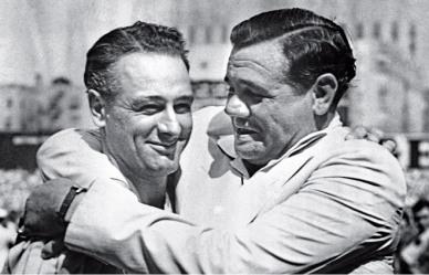 El dúo de asesinos al bate, Gehrig y Ruth
