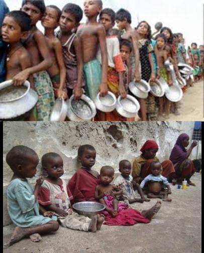 El hambre infantil es enorme en este mundo