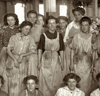 Grupo de mujeres que sufrió el incendio de Triangle Shirtwaist Company